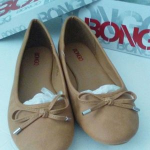 Bongo Womens Size 9.5 Tan Flats